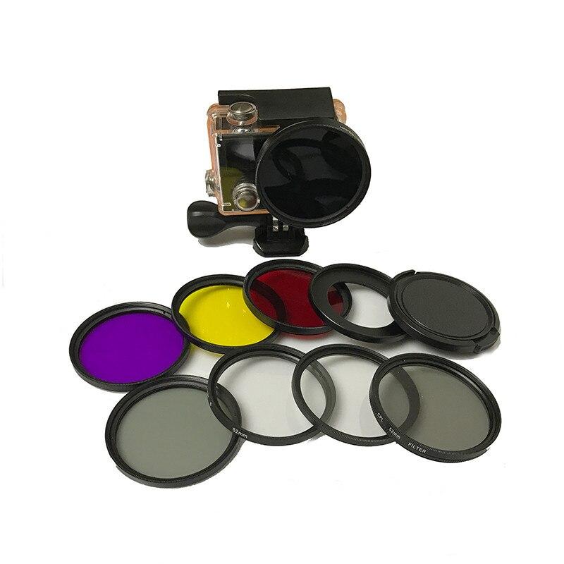 Accessoires 10 en 1 Plongée filtre UV CPL Filtre pour Eken H9 H9R h9pro H9SE H9R SE H8PRO H8SE H8 H8R H3 H3R V8S Eken Accessoires