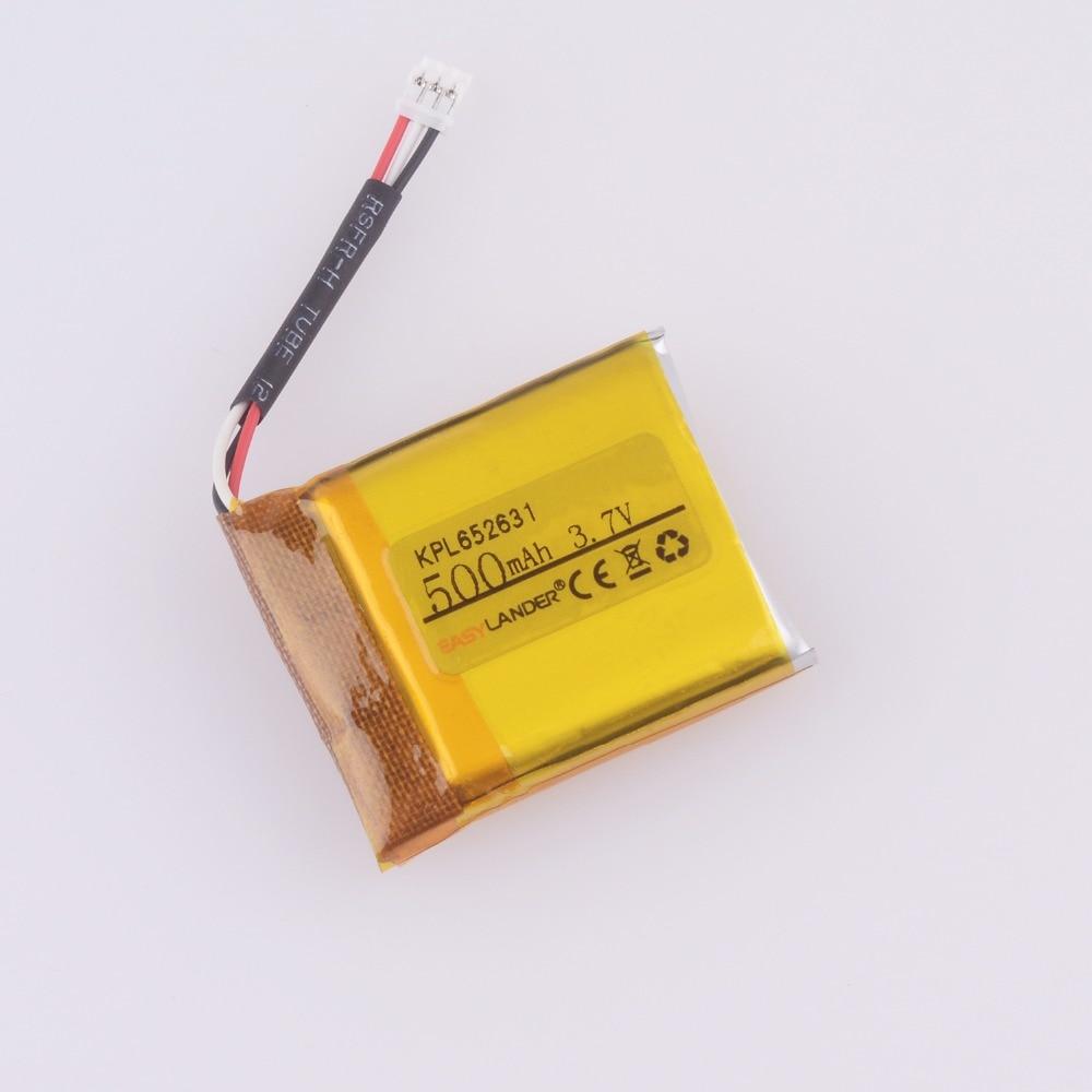 Easylander Replacement 652631 3.7V 500mAh Li polymer Battery For smart watch mp3 mp4 gps KPL652631 Suunto Ambit 3 Ambit 2