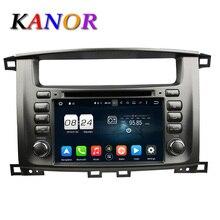 KANOR Android 6.0 Octa Core Para Toyota Land Cruiser 100 Reproductor de DVD de Navegación GPS Radio de Coche de Audio y Vídeo 2 Din GPS Multimedia