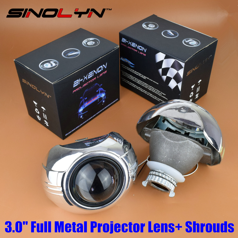Car Styling Automobiles Full Metal Q5 3 0 inch HID Bi xenon Headlight Projector Lens Smax