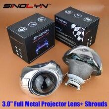 Automóviles coche Que Labra Full Metal Q5 3.0 pulgadas HID Bi xenon Lente Del Proyector + Smax Cubiertas Máscara, uso D2S D2H Bombillas de La Lámpara