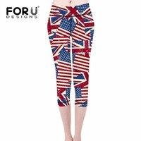 Forudesigns/классический американский флаг Леггинсы для Для женщин модные облегающие брюки с карман на молнии Эластичный леди Брюки для девочек ...