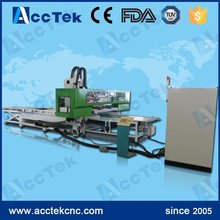 Auto feeding cnc woodworking machine for furniture AKM1325AF cnc wood turning router for sale