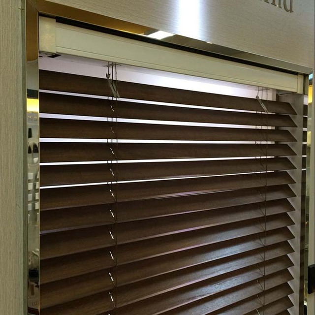 Window Blinds, Motorized Wooden Venetian Blind, Window Treatment