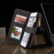 Чехол-бумажник из натуральной кожи для Samsung Galaxy S6/Edge/Plus/S7/Edge Note 5, для Iphone 5, 5s, se, 6, 6 S, Plus, чехлы-сумки для телефона