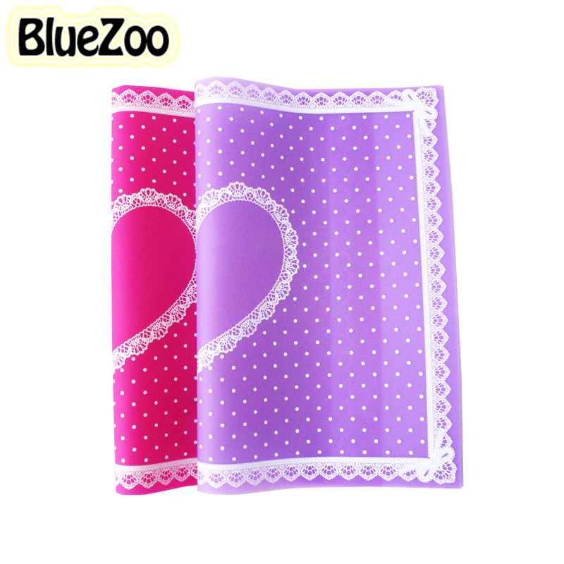 BlueZoo Nail Art Table Mat Nail Mat Pad Cute Point Lace Silicone Foldable Washable Manicure Nail