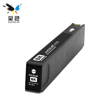 HAOCOLOR remanufactured pigment based Ink Cartridges black color For HP 913 913A HP913 HP913A