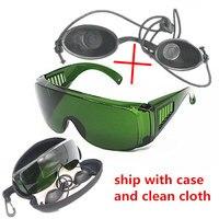 Óculos protetores opt/e light/ipl/photon  óculos preto de segurança para boneca  óculos de proteção a laser vermelho 340-1250nm de largura absorção de absorção