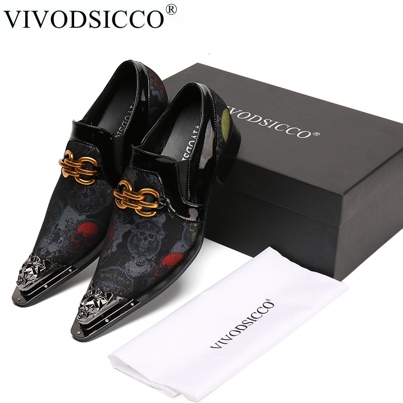 VIVODSICCO Classical Men Business Dress Shoes Patent Leather Shoes Men's Flat Oxfords Wedding Party Shoes Italian Formal Shoes fashion party wedding shoes patent leather business oxfords men dress shoes lace up formal flats shoes career flat zapatos male