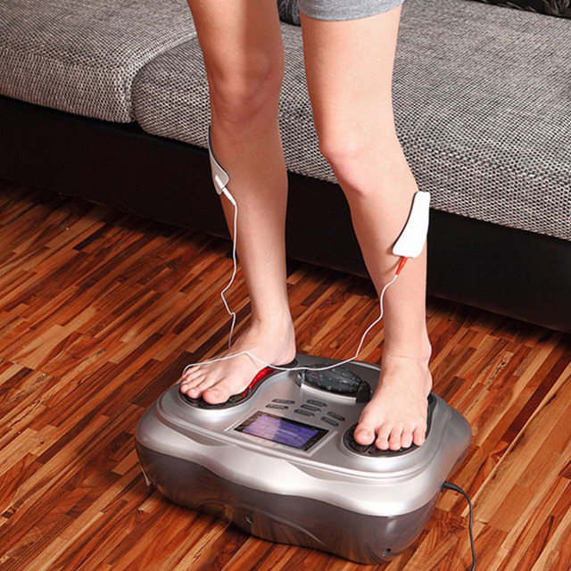 Vibration In Foot >> Us 129 99 Sanheshun Newest Impulse Foot Vibration Massager Electric Crazy Fit Massage Fitness Plate Acupuncture Tool Machine In Relaxation