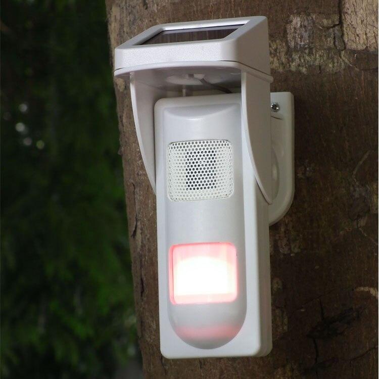 Solar power 25kg animal immune outdoor PIR Sensor up to 12m distance PIR detector stand alone solar power siren