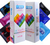 MingLiu 48Pcs/Pack 6 in 1 Ultra Thin, G Point , Dotted,Ice and Fire Mixed Styles Nautural Rubber Penis Condoms for Men
