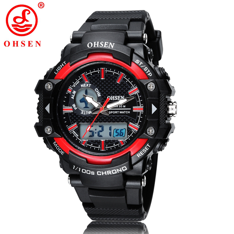 Ohsen Boys Kids Children Digital Sport Watch Alarm Date Chronograph Led Back Light Waterproof Wristwatch Student Clock As21 100% High Quality Materials Back To Search Resultswatches