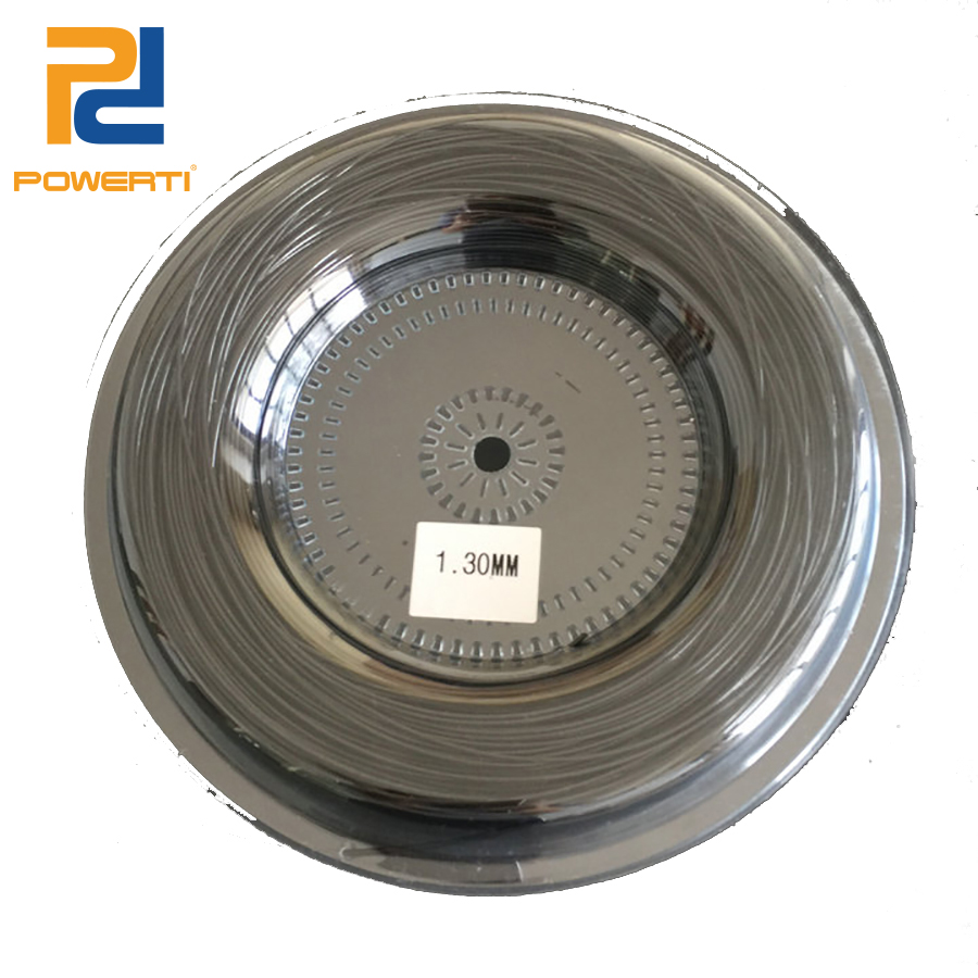 POWERTI 1.3mm&1.25mm Polyester Tennis String Poly Racket String for Outdoor Sport Tennis Training String (200m/reel) free shipping alpha brand s2 polyester tennis string reel string 200m reel tennis racket tennis racquet
