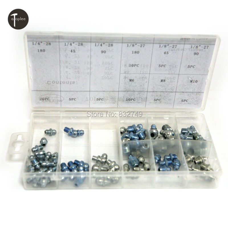 Hardware 70 PCS / Set Grease Nipple Assortment Carbon Steel Hardware Tools Free Shipping