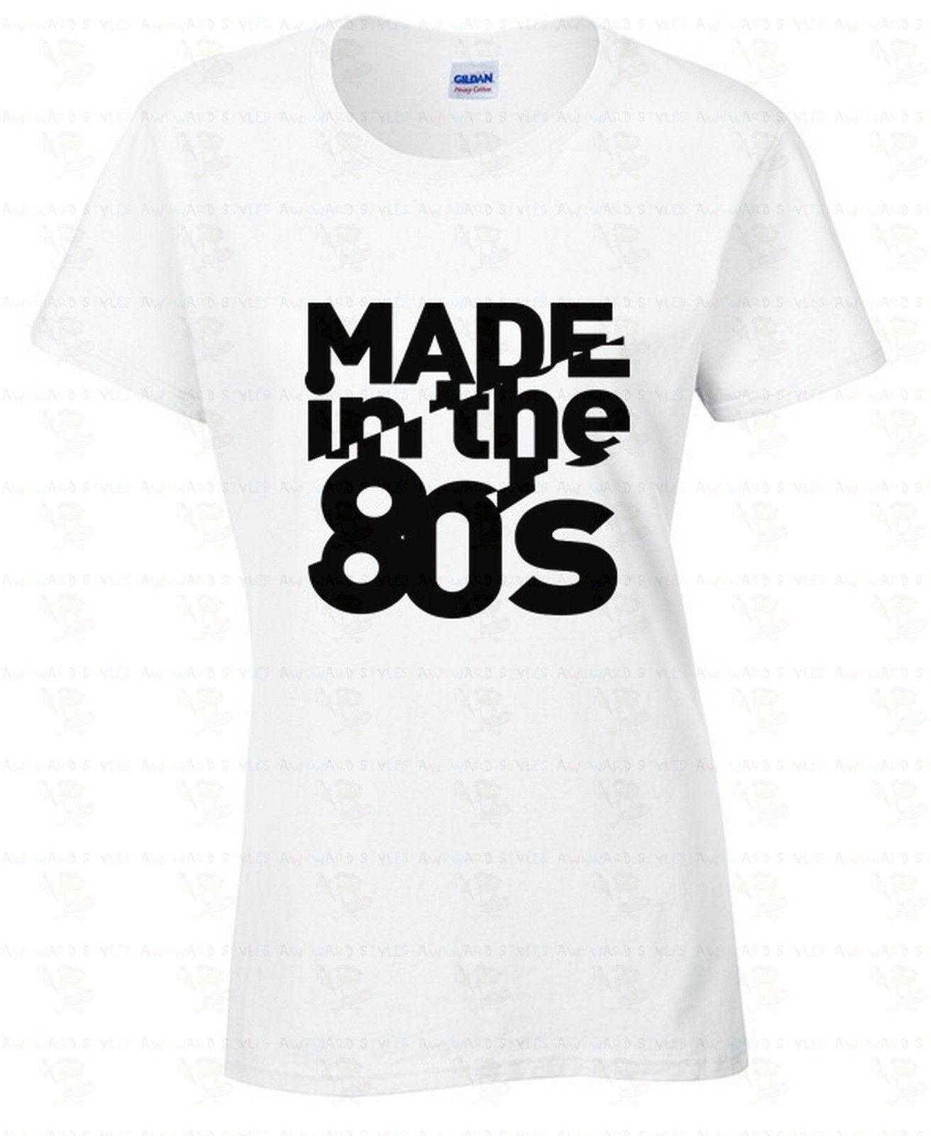 c35ab1ba MADE In The 80's WOMEN T SHIRT Humor Ladies Shirt Birthday Gift Retro  College Harajuku T Shirt Women Short Sleeve Top Tee-in T-Shirts from Women's  Clothing ...