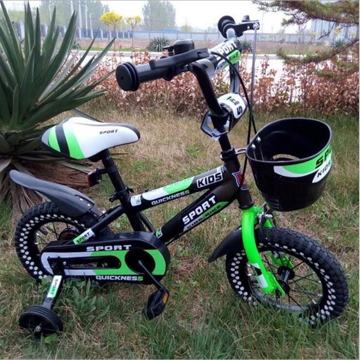 Vélo pour enfants bébé poussette vélo 12 pouces 14 pouces 16 pouces vélo tour sur jouets pour enfants quatre roues vélo 3-8 ans - 3