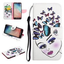 For Samsung Galaxy S10e S10 Plus Case Wallet Coloured Drawing PU Leather Flip Cover for Samsung Galaxy S10 Lite S10 Couqe Cover cheap Wallet Case 3D Viewer Dirt-resistant Anti-knock Kickstand With Card Pocket Heavy Duty Protection Adsorption GALAXY S10 PLUS