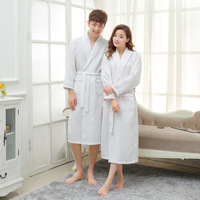 Cotton Waffle ROBE Men Bathrobe Long Dressing Gown Sleep Robes Women Spa Robe Bridesmaid Robes Pink