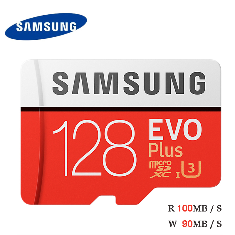 Samsung EVO Plus 128GB MicroSD Card 100MB/S UHS-I U3 Class10 4K UltraHD SDXC TF Flash Memory Card For Video Equipment