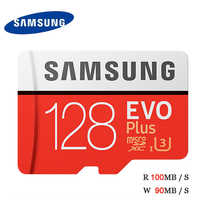 Tarjeta MicroSD Samsung EVO, con más de 128GB 100 MB/S UHS-I U3 Class10 4K UHD SDXC tarjeta de memoria flash TF para equipo de vídeo