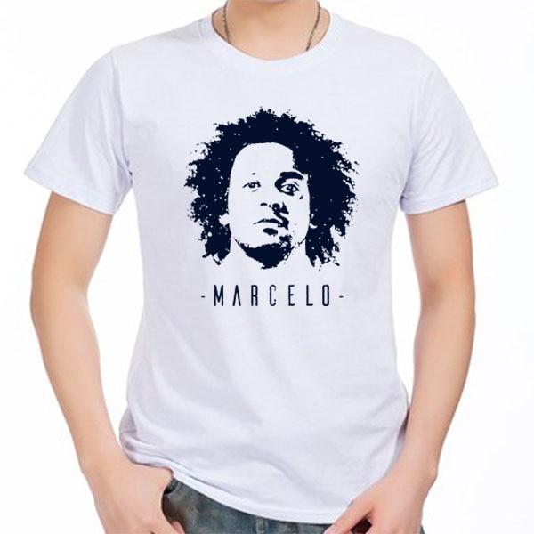 1337cd52755 Men s Short sleeve t-shirt Marcelo Vieira da Silva Junior BRAZIL BBC Madrid  La Liga Ronaldo 100% cotton tshirt jersey fan
