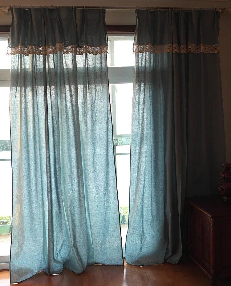 rideau de tete vintage rustique 100 coton draperies de cuisine pour fenetre francaise pour salon et chambre a coucher 1 75m x 1 75 2 55m