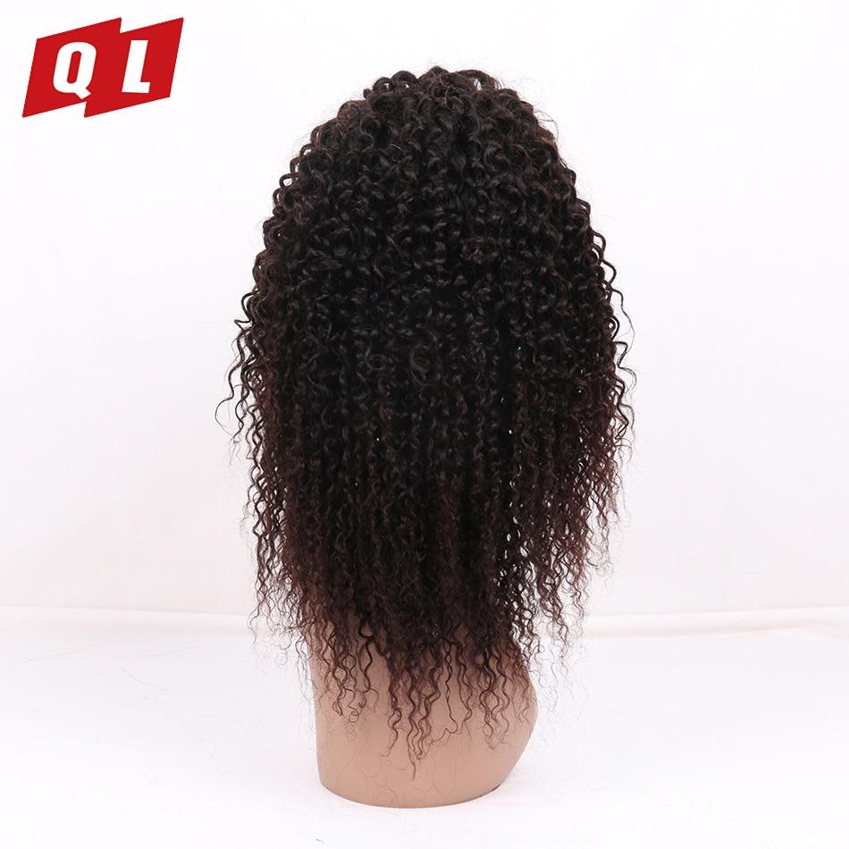 QLOVE волосы малазийский странный вьющиеся волосы Кружева Фронтальная парики 150% плотность предварительно сорвал натуральный Цвет 100% человеч...