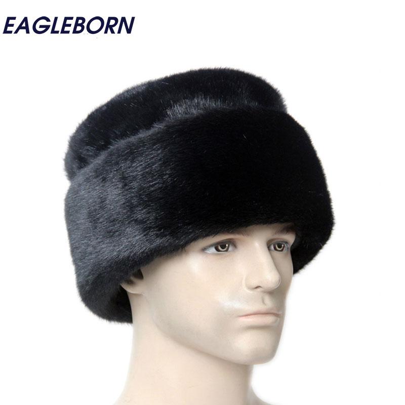6559ef48a HOT SALE] Mens Winter Hats Dad Russian Ushanka Hats Winter Protector ...