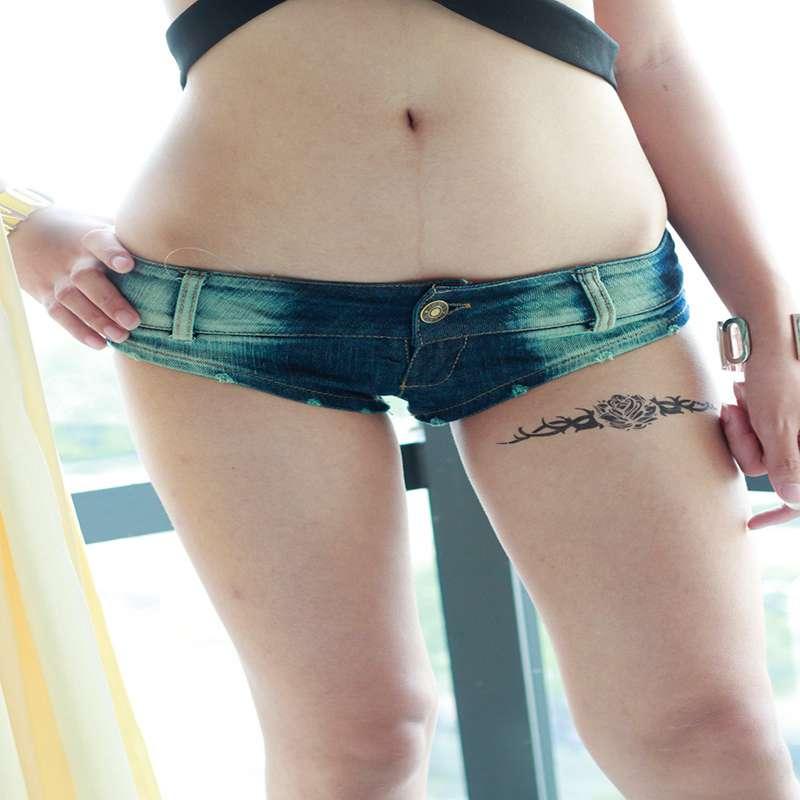 2018 Summer Hot Sexy Women Booty Cheeky Denim Micro Mini Shorts Low Rise Waist Disco Dance Skinny Short Hotpants Clubwear