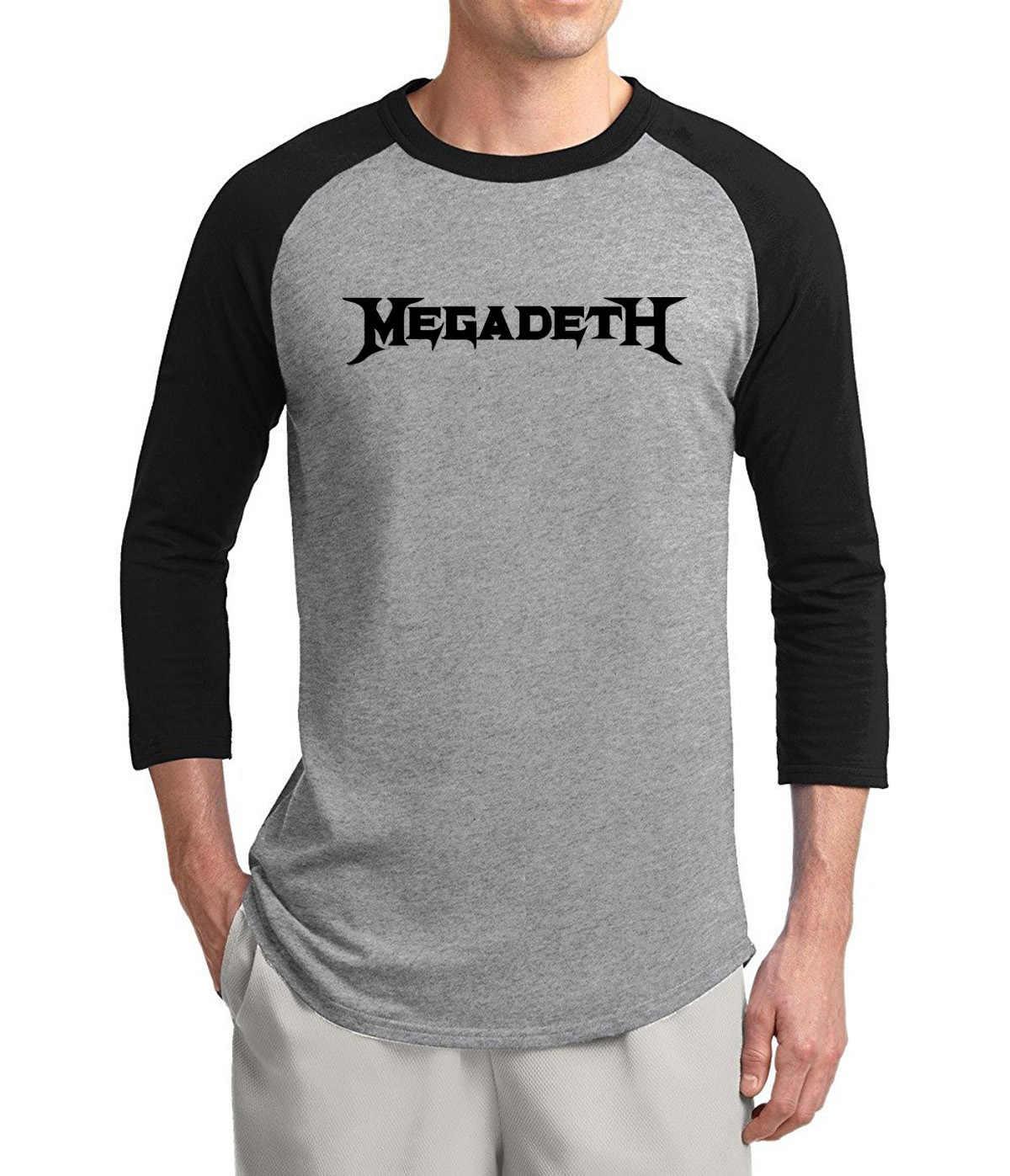 New Arrival Metal Band Megadeth 3/4 sleeve t shirt men 2017 summer 100% cotton fashion raglan men t-shirt hip hop o-neck tshirt