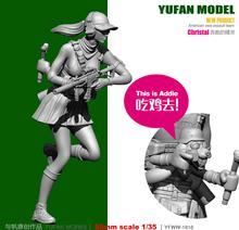 лучшая цена Yufan Model 1/35 Resin Soldier Model Kit Originally  Running Elves Eat Chicken Figure YFWW35-1816