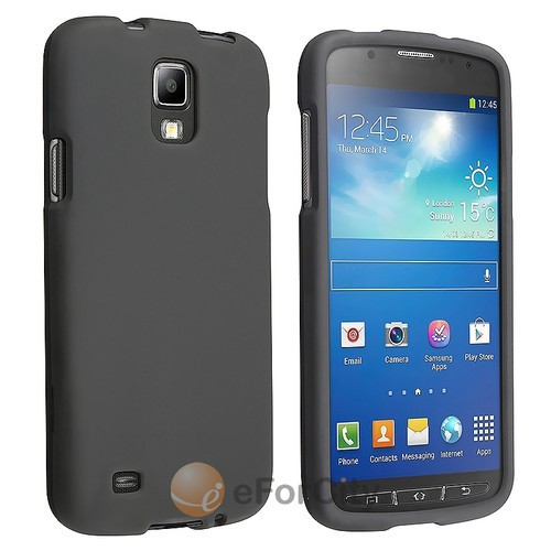 Black Rubberized Hard Case Cover For Samsung Galaxy S4