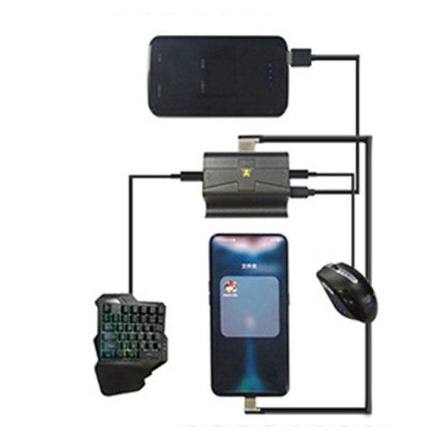 G1X Keyboard Mouse Converter Stasiun untuk Ponsel Android Bluetooth Adaptor Dermaga Gamepad Ponsel Pubg Keyboard Permainan Converter Pemegang