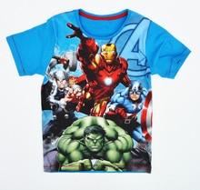 Boy t shirt hulk Hawkeye captain america iron man Spiderman thor summer short sleeve children kid clothes vestido infanti roupa