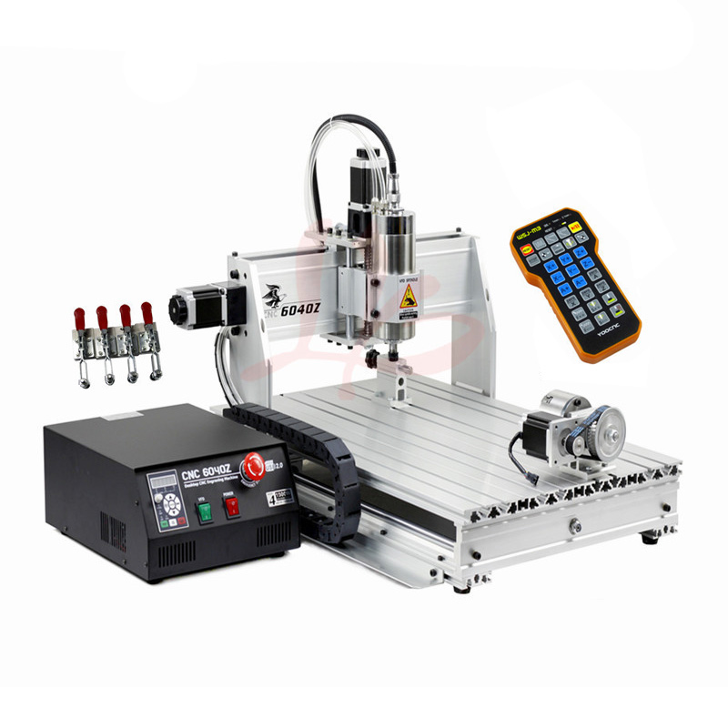 Limit Switch (USB Port) Wood Router lathe 6040 2.2KW CNC Spindle Metal Stone Carving Machine with Mach 3 control