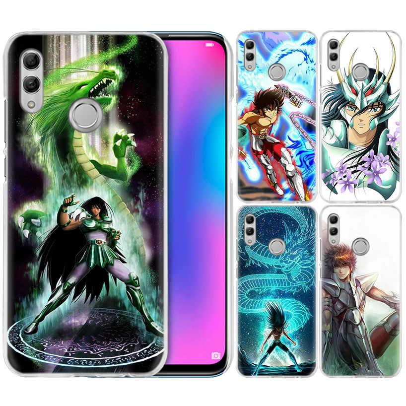 Saint Seiya Shiryu Anime Case for Huawei Honor 8X Y9 9 10 Lite Play 8C 8S 8A Pro V20 20i 10i Y6 Y7 2019 Hard PC Phone Cover Capa