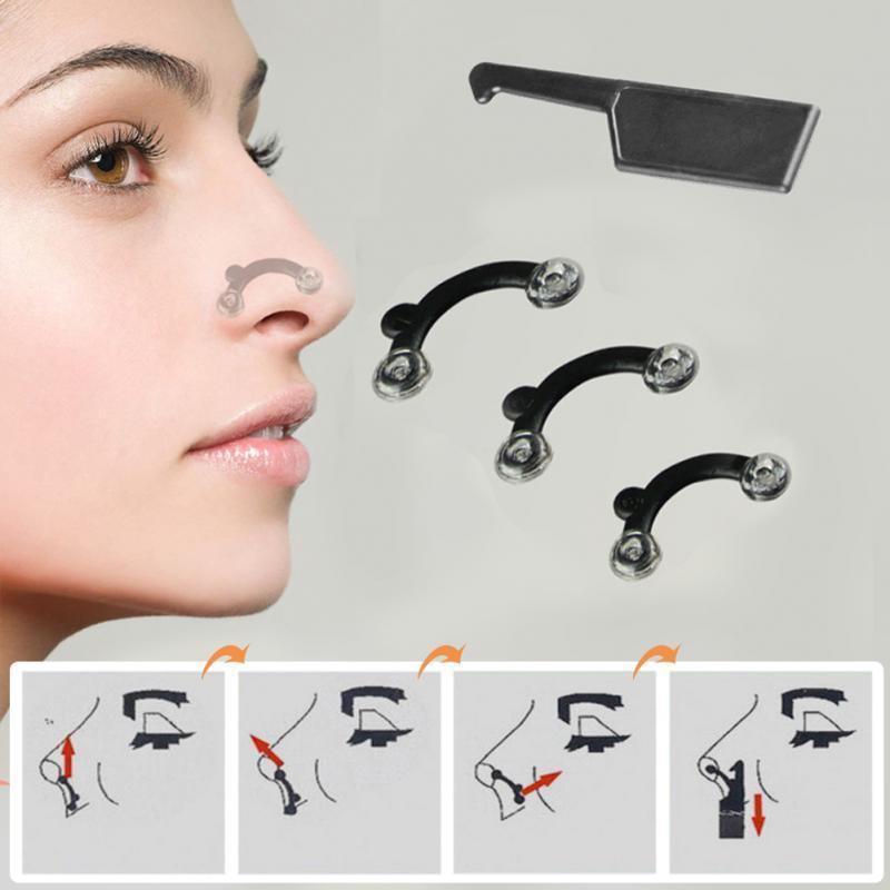 6Pcs/Set Nose Up Lifting Shaping Clip Clipper Shaper Bridge Straightening 3 Size Beauty Nose Clip Corrector Massage Tool No Pain