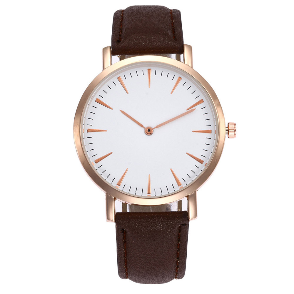 Women's Watches Simple Dial Solid  Quartz Analog Ladies Wristwatch Leather Band Casual Bracelet Dropship Relogios Feminino F504