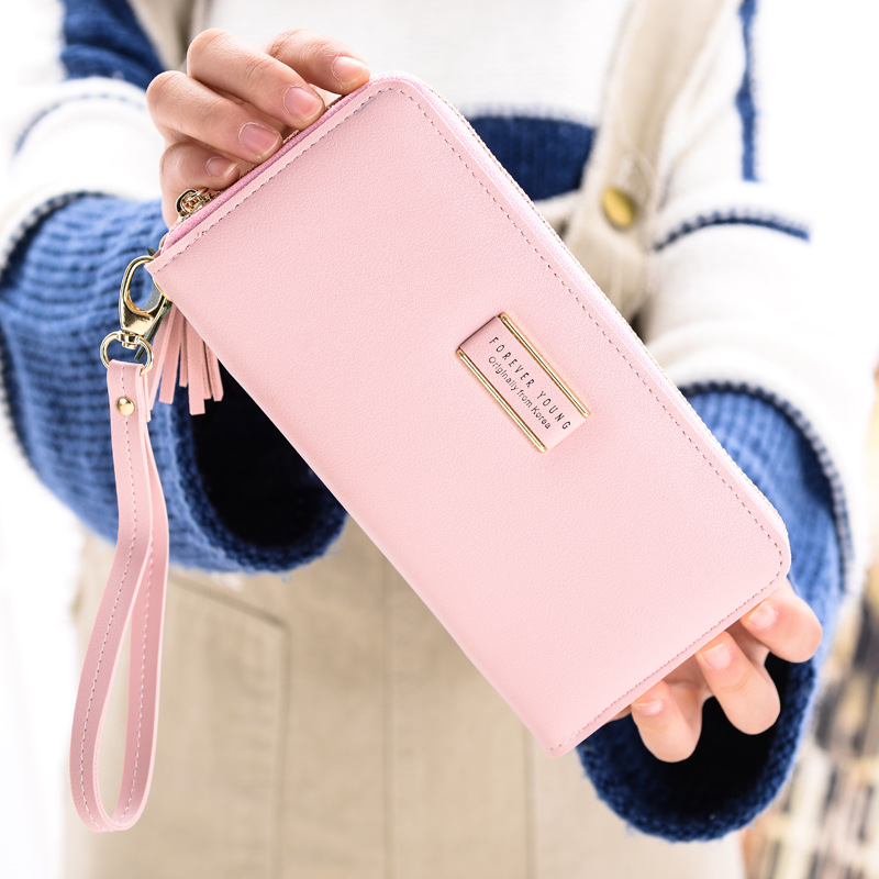 Image 3 - MONNET CAUTHY New Female Wallets Fashion Concise Large Capacity Multi card Slot Cell Phone Pocket Solid Color Green Long WalletWallets   -