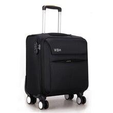 Оптовые! 16 дюймов мужчин и женщин коммерческого путешествия багажные сумки на универсальные диски, черный компьютер тележки для багажа бизнес мешок