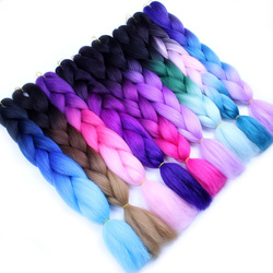 Falemei ombre kanekalon jumbo braiding hair extensions 24inch 100g pack synthetic crochet braids hair for women.jpg 250x250