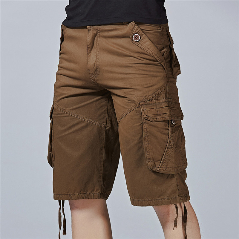 2018 Comfortable and Breathable Fashion Mens Casual Pocket Beach Work Casual Short Trouser Shorts Pants #0601