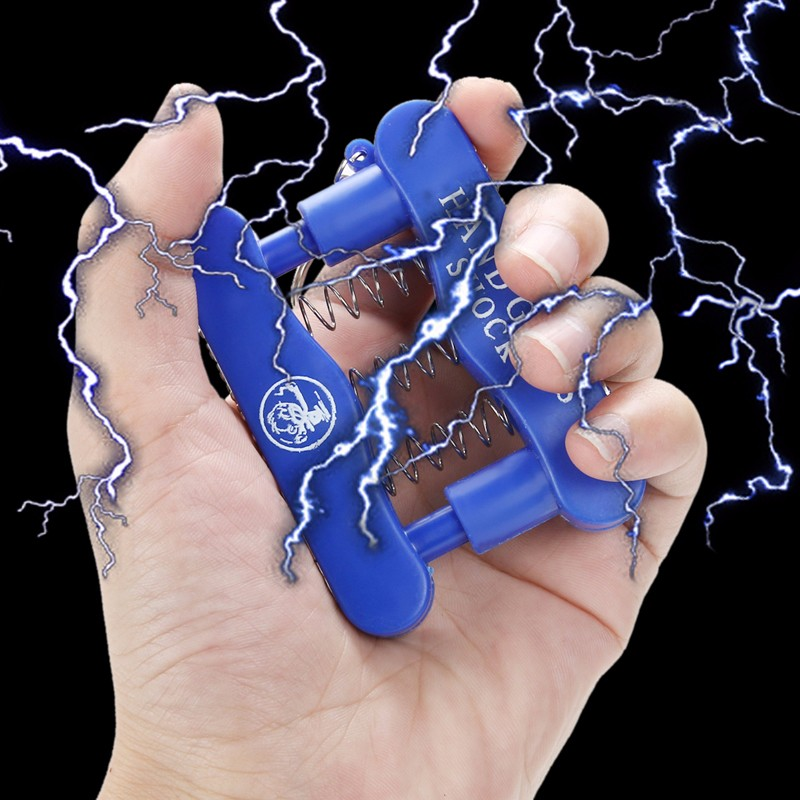 Novelty Electric Hand Grip Shock Prank Trick Toy Practical Jokes Wrist Spring Safety Kids Adults Electric Shocking Toy