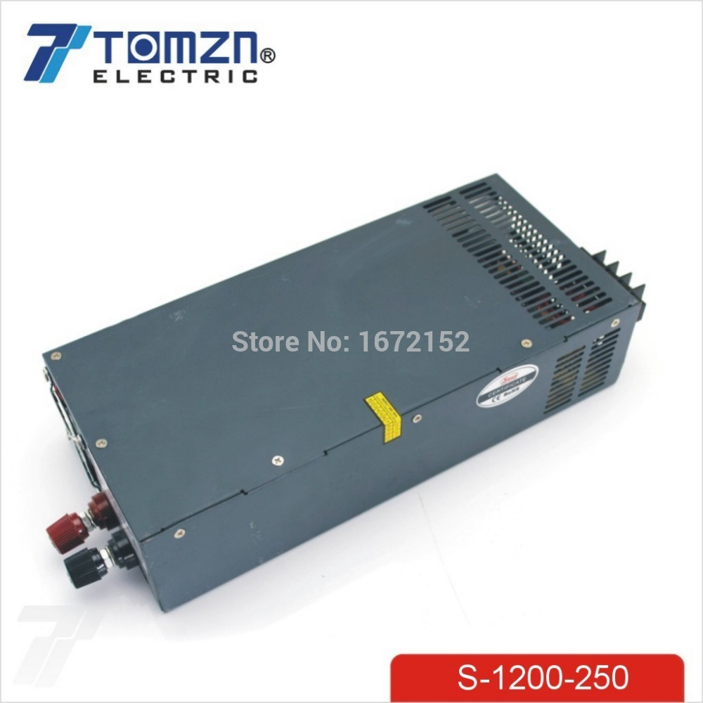 1200W 250V 4.8A adjustable 110V or 220V input Single Output Switching power supply for LED Strip light AC to DC best quality 12v 15a 180w switching power supply driver for led strip ac 100 240v input to dc 12v