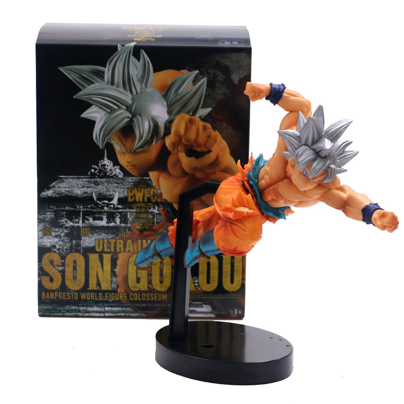 Anime Dragon Ball Z Super Ultra Instinct Son Goku BWFC Figure Model Collection Toys 15cm
