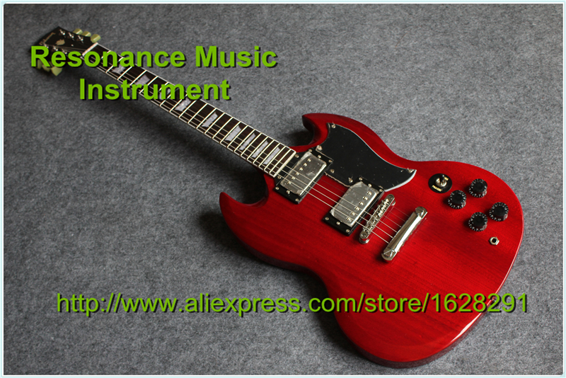 New Arrival Chinese SG Electric Guitars & One Piece Manhogany Body Custom SG Guitar Left Handed Available new style custom sg electric guitar 3 pickups gold hardware sg electric guitar with gold tremolo system free shipping
