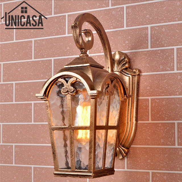 Vintage Outdoor Wall Lights Garden Pathway Antique Bar Sconce Black Aluminum Ceiling Lamps Led Lighting Lamp Ou