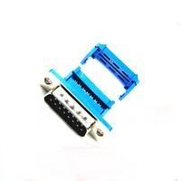 DB15 Male Socket Connector Jack Pressure Wire Type Crimp Type Serial Port 15 Pin RS232 Connector