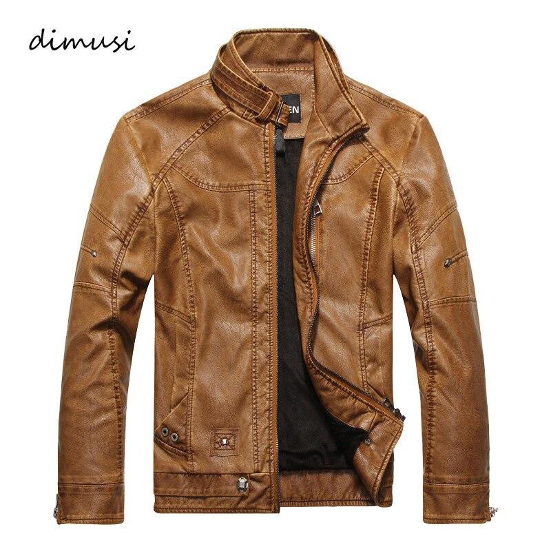 DIMUSI для мужчин осень зима кожаная куртка мотоциклетные кожаные куртки мужской бизнес повседневное пальто для будущих мам бренд Одежда Жиле...